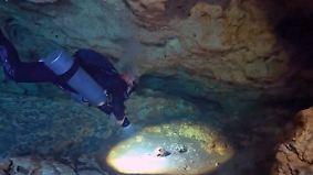 Knochen von Maya und Urelefanten: Unterwasser-Höhle in Mexiko birgt spektakulären Schatz