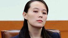 Kim Yo Jong hatte ein anvisiertes Treffen mit US-Vizepräsident Mike Pence abgesagt.