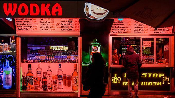 Kiosk in St. Pauli am Hamburger Berg - hier gibts viel Alk für wenig Geld.