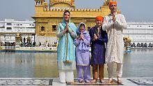 Kanadas Premier in Indien: Trudeau erntet Kritik für seine Gewänder