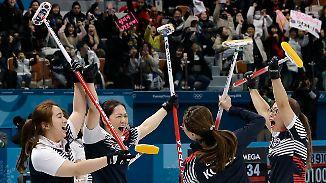 """Curlerinnen lösen Internet-Hype aus: Südkorea feiert seine """"Knoblauch-Mädchen"""""""