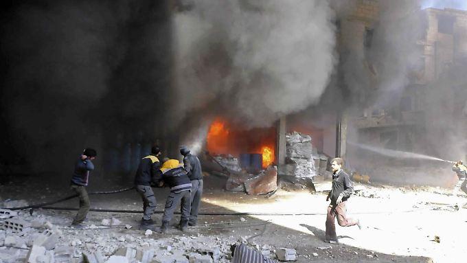 Ghuta erlebt die schlimmsten Angriffe seit Beginn des syrischen Bürgerkriegs vor fast sieben Jahren.