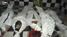 Tag für Tag sterben Dutzende Zivilisten durch die Bombardements in Ost-Ghuta.