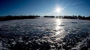 Kräftiger Schneefall im Norden: Sonne überstrahlt Eiseskälte