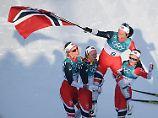 """""""Unglaublich, diese Frau"""": Björgen krönt sich zur Rekord-Olympionikin"""