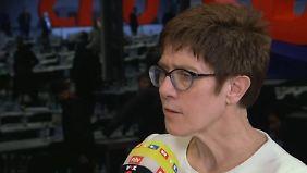 """CDU-Generalsekretärin im n-tv Interview: Kramp-Karrenbauer ruft """"Phase des Zuhörens"""" aus"""