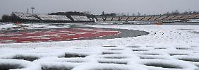 Schneemann statt Bestzeit: Winterwetter legt Formel-1-Tests auf Eis