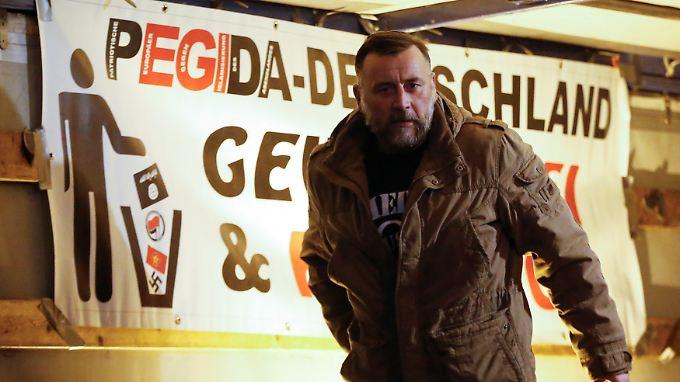 Pegida-FrontmannLutz Bachmann: Künftig dürfen AfD-Politiker mit ihm auftreten.