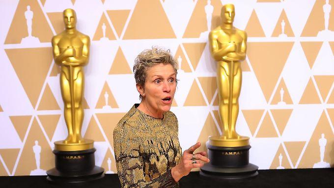 """""""Ich habe ein paar Sachen zu sagen"""", rief Frances McDormand, als sie die Bühne betrat."""