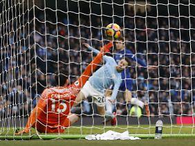 Gegen Chelsea schoss Bernardo Silva die Citizens zum Sieg.