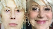 Vorher-Nachher-Show: Helen Mirren zeigt ihr wahres Gesicht
