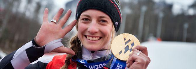 Die bekannteste Deutsche ist Anna Schaffelhuber. Bei den Spielen in Sotschi gewann sie bei fünf Starts fünf Goldmedaillen.