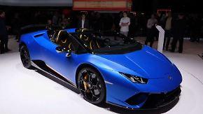Luxusschlitten und Präsidentenkutsche: Genfer Autosalon verzückt gut betuchte PS-Fans