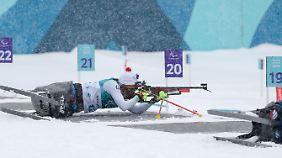 Andrea Eskau tritt im Biathlon und Skilanglauf an.