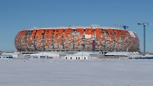 Bis zur WM ist alles fertig, versprochen . auch das Stadion in Saransk.