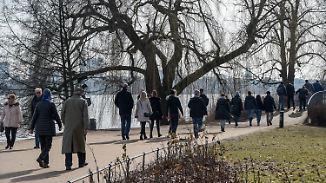 Eiscreme statt Eiseskälte: Bundesbürger verspüren erste Frühlingsgefühle