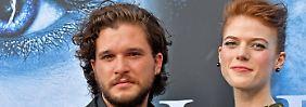 """Kit Harington darf seiner Verlobten Rose Leslie nichts über die neue Staffel von """"Game of Thrones"""" verraten."""