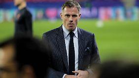Die Niederlage seines FC Liverpool im Prestigeduell mit Manchester United ist für Carragher offenkundig schwer zu ertragen.
