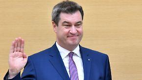 Karriereziel erreicht: Markus Söder ist Bayerns neuer Ministerpräsident