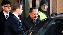 Beim Besuch des nordkoreanischen Außenministers Ri Yong Ho in Schweden wurde die Freilassung dreier US-Bürger wohl auch diskutiert.