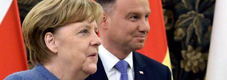 Merkel bei Morawiecki: Deutschland und Polen nähern sich an