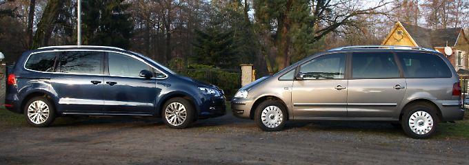 Der neue hat ein paar Kanten mehr. Und vor allem das typische VW-Gesicht der aktuellen Modellpalette.