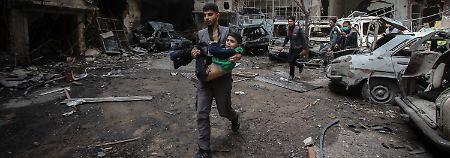 Rebellen in Ost-Ghuta fliehen: Assad-Regime bricht letzte Widerstände