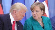Abbau von Handelsbarrieren?: Trump will verhandeln, Merkel Klarheit