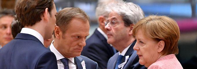 Iran, Trump, Putin: Merkel, Macron, May beschwören Einigkeit