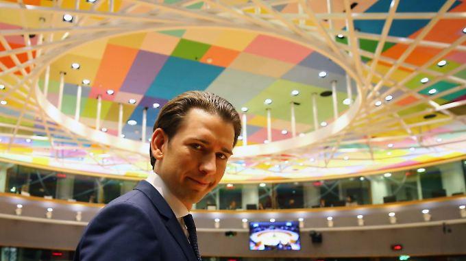 Sebastian Kurz in der vergangenen Woche auf einem EU-Gipfel in Brüssel.