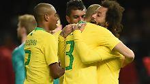 Der Sport-Tag: Brasiliens Revanche glückt - Stadion erstrahlt grün-gelb