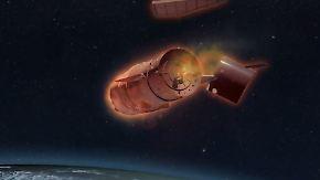 """Raumlabor außer Kontrolle: """"Tiangong 1"""" stürzt Ostern auf die Erde"""