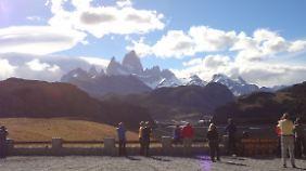 Blick auf die Anden vor El Chaltén.