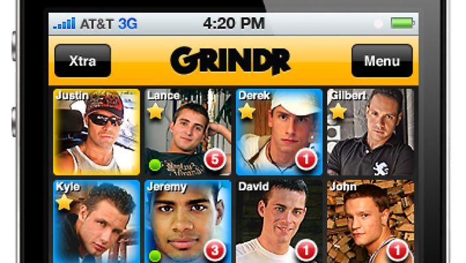 Nutzer der Dating-App Grindr können in ihrem Profil den HIV-Status angeben.