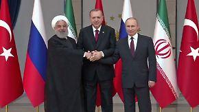 Syrien-Gipfel in Ankara: Türkei, Russland und Iran verfolgen eigene Interessen
