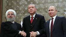 Dreier-Gipfel zu Syrien: Sie wollen Frieden, sagen aber nicht, wie