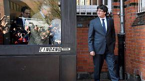 """""""Politische Gefangene sind eine Schande"""": Puigdemont verlässt JVA Neumünster"""