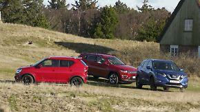 Diesel bleibt beim SUV State of the Art: Suzuki, Jeep und Nissan messen sich im Gelände