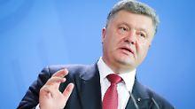 Petro Poroschenko ist ein Gegner der Ostsee-Pipeline.