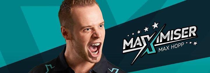 """Max """"Maximiser"""" Hopp: Pure Freude beim deutschen Darts-Profi."""