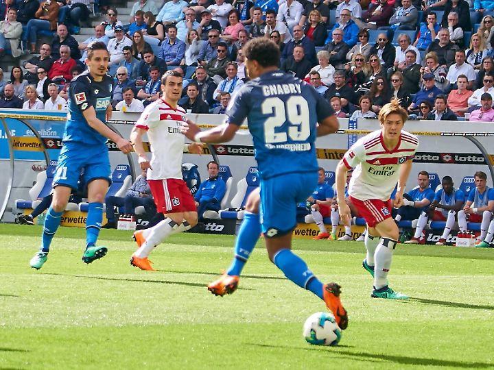 Im Abseits: Hoffenheims Serge Gnabry.