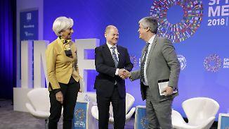 IWF warnt vor Handelskrieg: Scholz will Strafzölle für EU dauerhaft abwenden