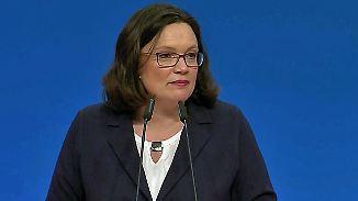 """Nahles bittet die SPD um Vertrauen: """"Ich kenne diese Partei"""""""