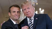 """Presseschau zu Macrons US-Reise: """"Er kommt am besten mit Trump zurecht"""""""