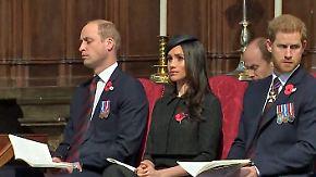 Promi-News des Tages: Prinz William döst im Gottesdienst fast ein