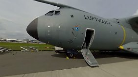 ILA-Eindrücke in 360 Grad: So sieht es an Bord von Transall und A400M aus