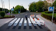 Darf das so?: 3D-Zebrastreifen sorgt für Streit in Thüringen