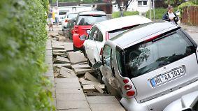 Unwetterchaos im Norden: Starkregen setzt Hamburg unter Wasser