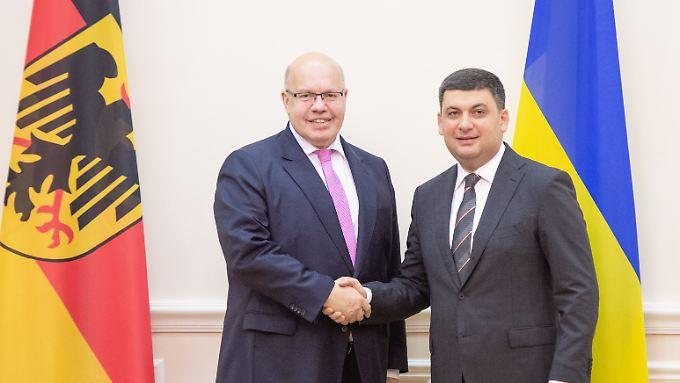 Wirtschaftsminister Altmaier betont bei seinem Besuch in Kiew die gute Beziehung zwischen Deutschland und der Ukraine.
