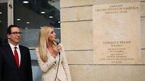 Dutzende Tote bei Protesten im Gazastreifen: Ivanka Trump eröffnet US-Botschaft in Jerusalem